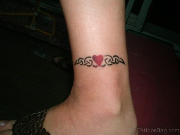 Ankle Bracelet Tattoo On Ankle