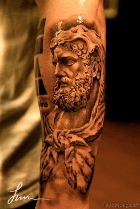 Apollo God Tattoo Design