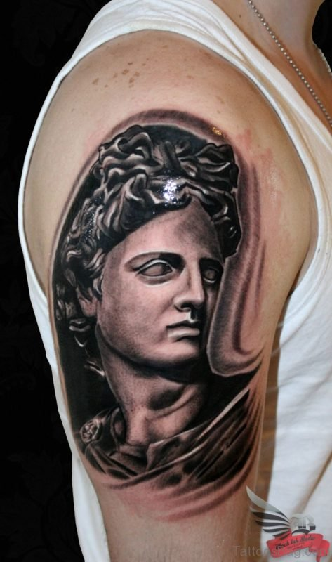 Apollo God Tattoo On shoulder