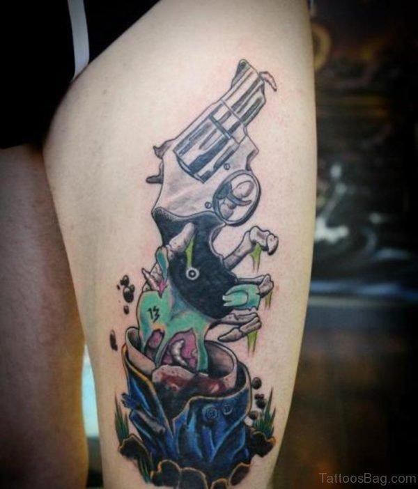 Appealing Gun Tattoo