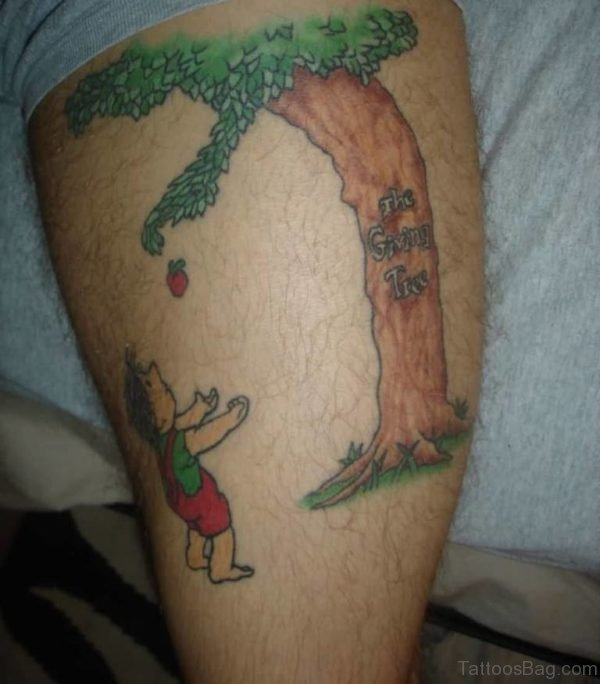 35 fabulous tree tattoos on thigh for Apple tree tattoo designs