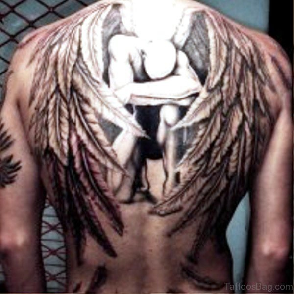 Archangel Tattoo On Back Image