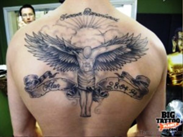 Archangel Tattoo On Back Pic