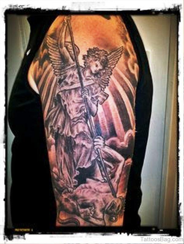 Archangel Tattoo On Shoulder Image