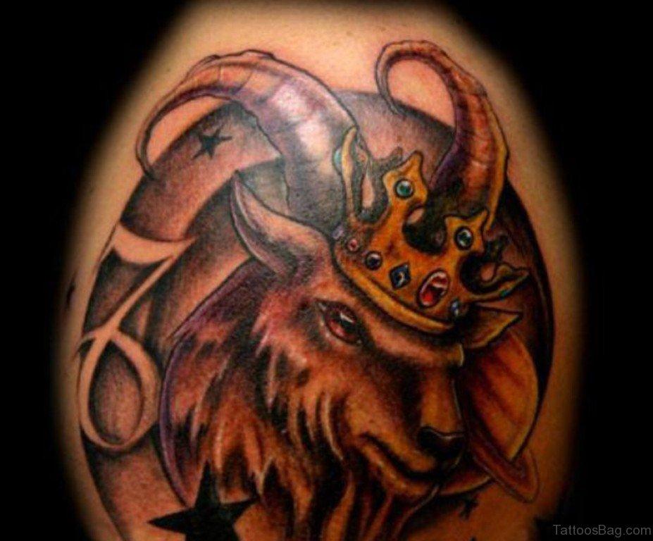 52 zodiac aries tattoos on shoulder. Black Bedroom Furniture Sets. Home Design Ideas