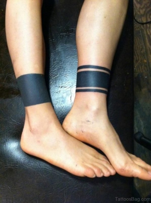 Armband Tattoo On Ankle