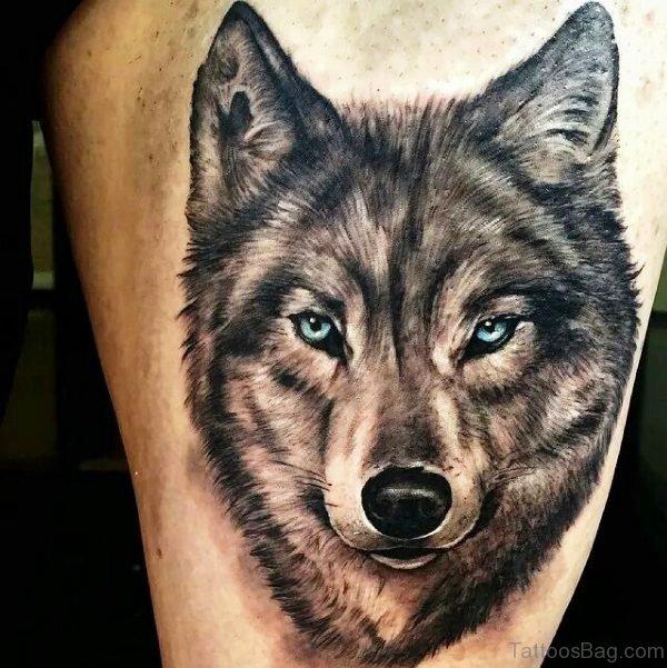 Attractive Alpha Wolf Tattoo