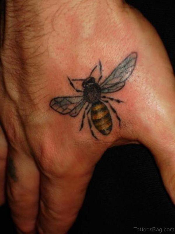Attractive Bee Tattoo