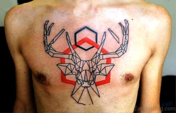 Attractive Buck Tattoo Design