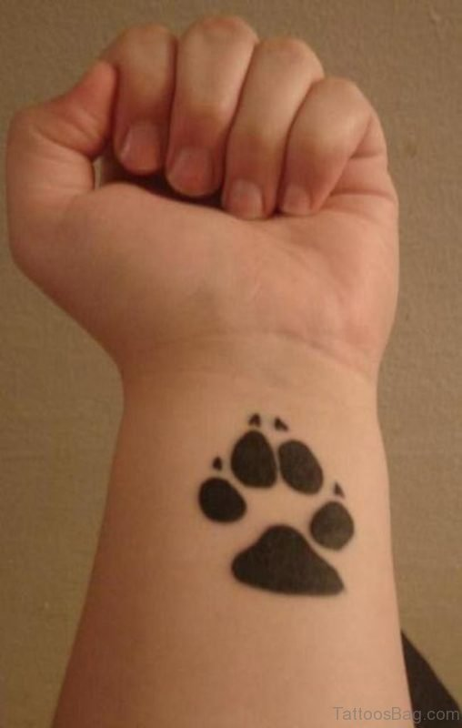 Attractive Claw Tattoo On Wrist