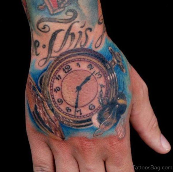 Attractive Clock Tattoo