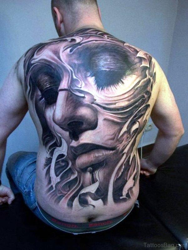 Attractive Creativity Tattoo On Back