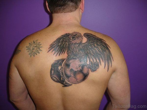 Attractive Eagel Tattoo On Back