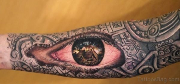 Attractive Eye Tattoo Design