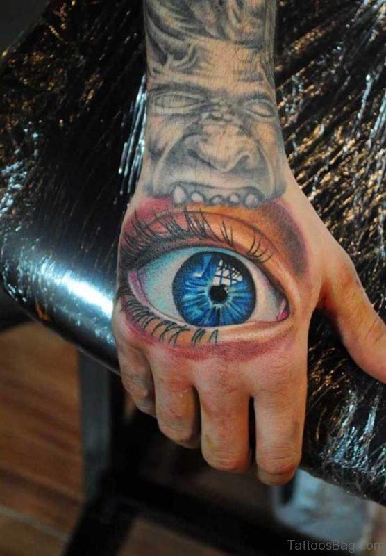 Attractive Eye Tattoo Design