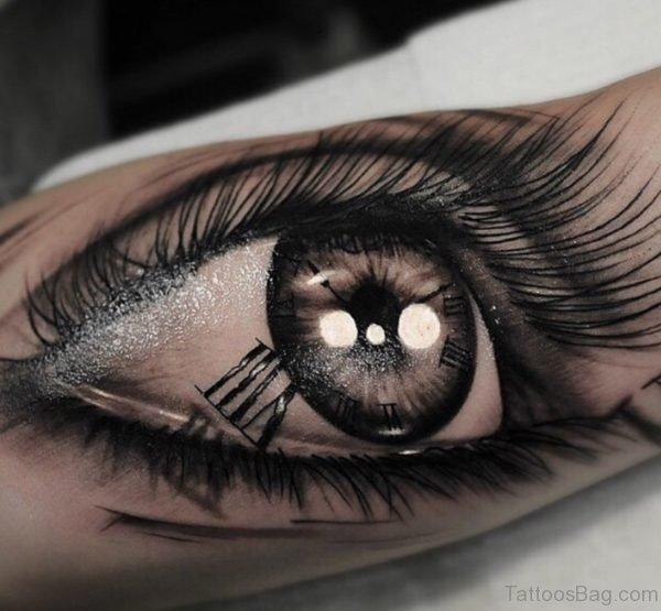 Attractive Eye Tattoo On Arm