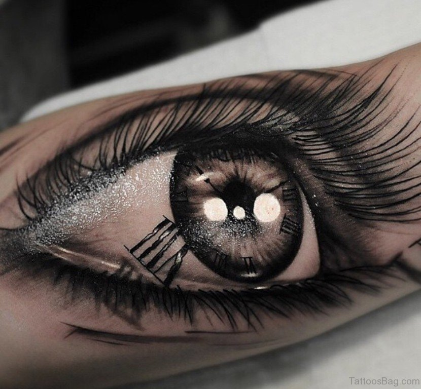 61 mind blowing eye tattoos on arm for Eyeball tattoo pics