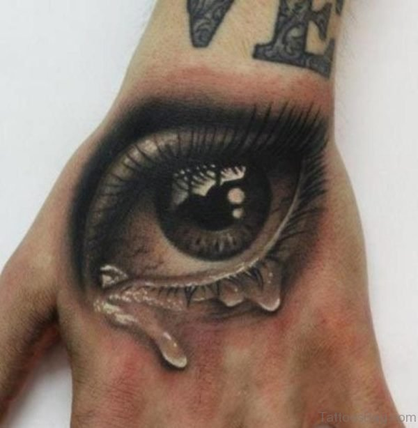 Attractive Eye Tattoo On Hand