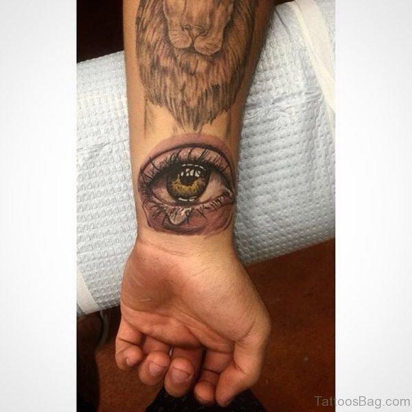 Attractive Eye Tattoo On Wrist