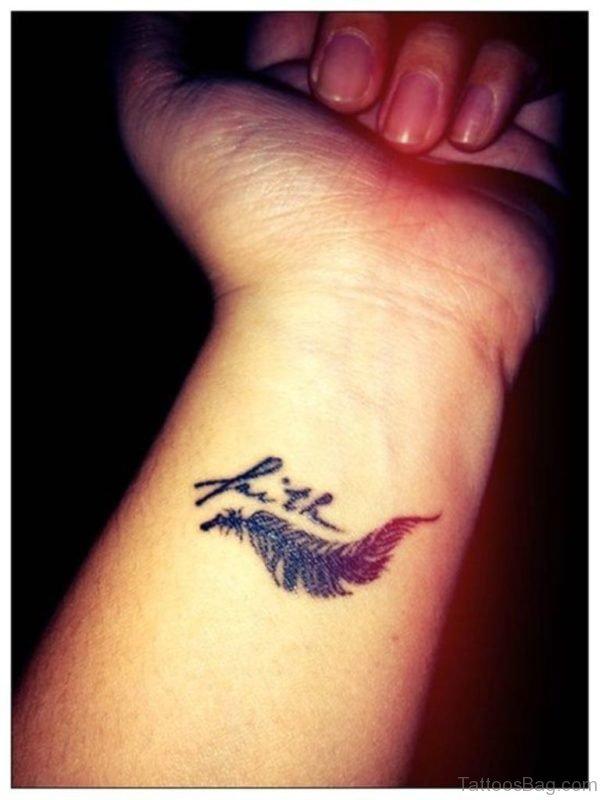 Attractive Faith Wrist Tattoo