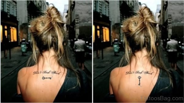 Attractive Key Tattoo