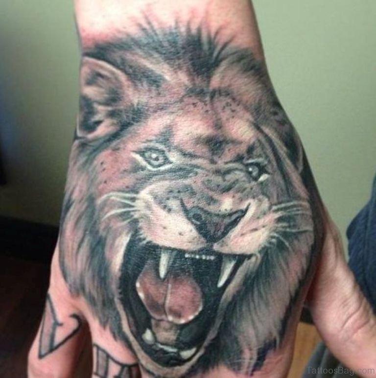 41 Best Lion Tattoos On Hand