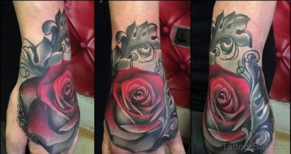 Attractive Rose Tattoo Design