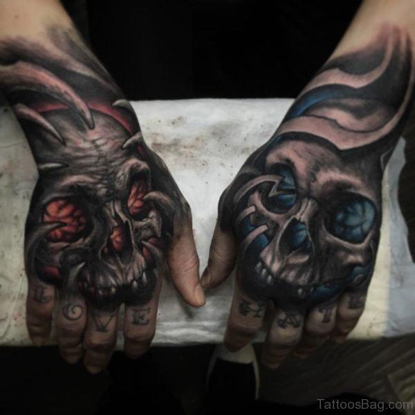 Attractive Skull Tattoo Design