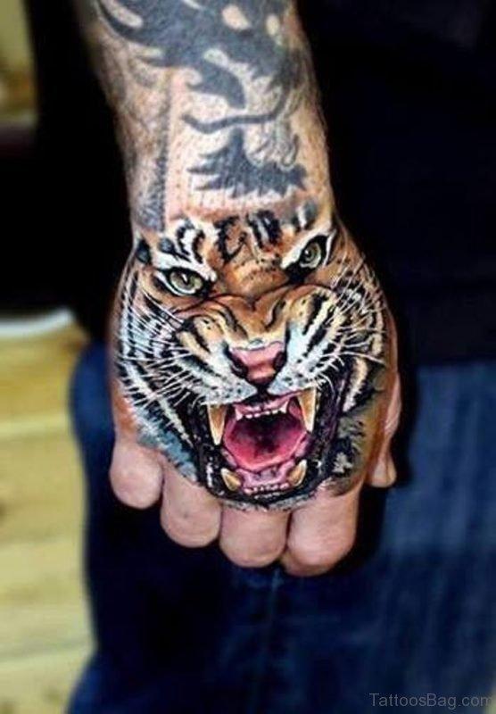 Attractive Tiger Tattoo