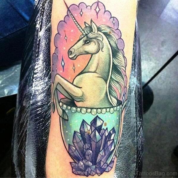 Attractive Unicorn Tattoo 1