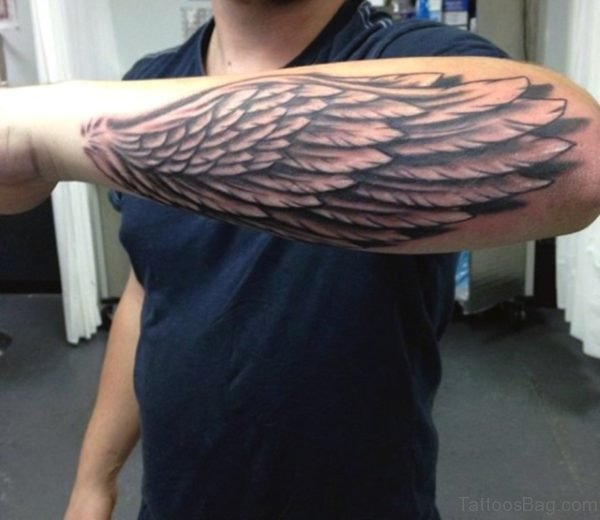 Attractive Wings Tattoo On Arm