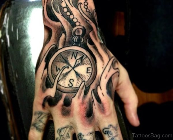 Attractive Compass Tattoo