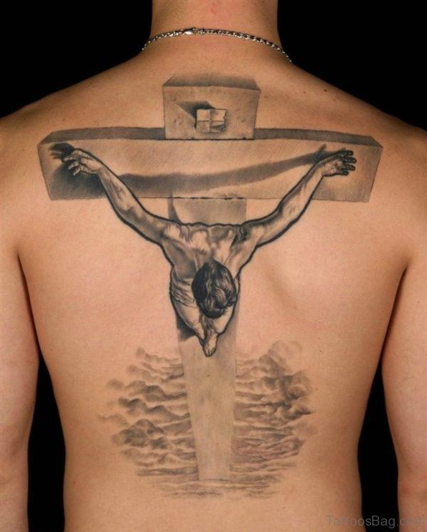 Cross Tattoo Design On Back