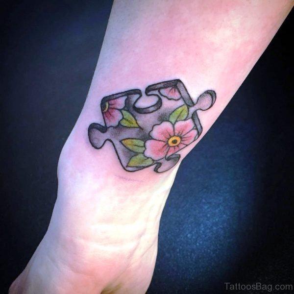 Autism Flower Tattoo On Wrist