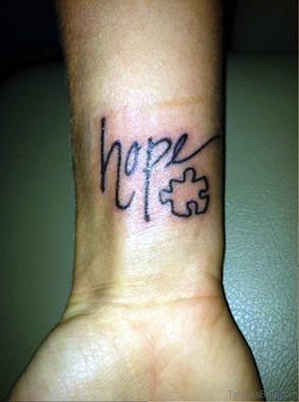 Autism With Hope Tattoo Design