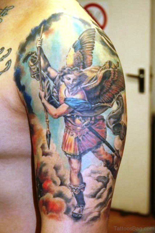 Awesome Archangel Tattoo Design