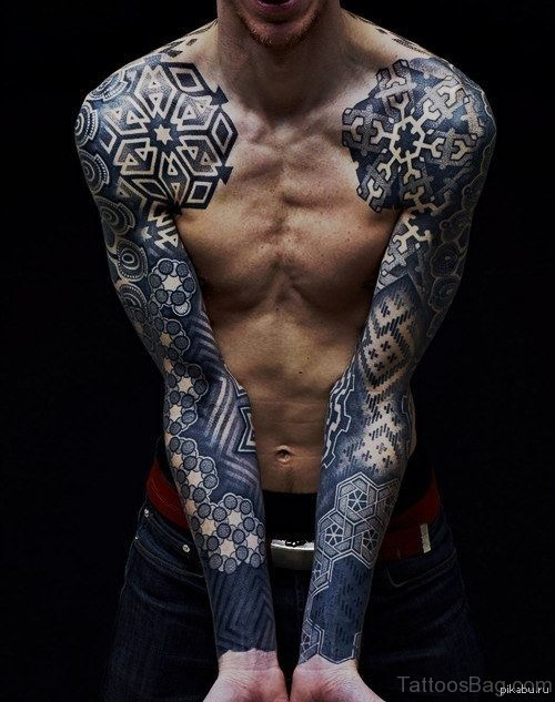 Awesome Arms Chest Tattoo
