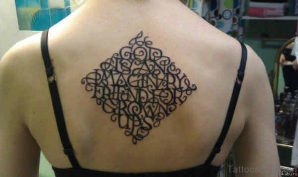 Awesome Atheist Tattoo Design On Back Body