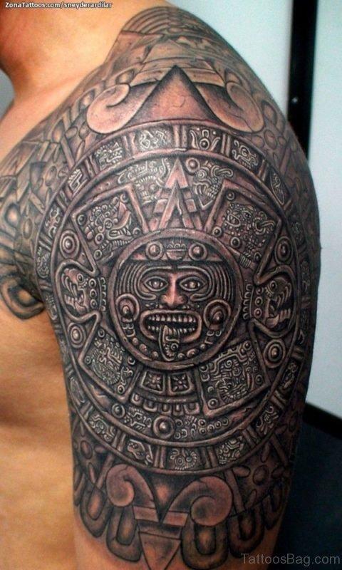 Aztec Tattoos on Shoulder