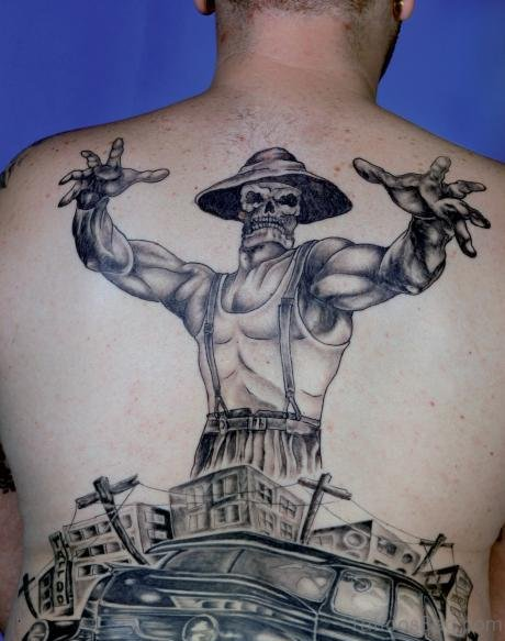 Excellent Back Tattoo