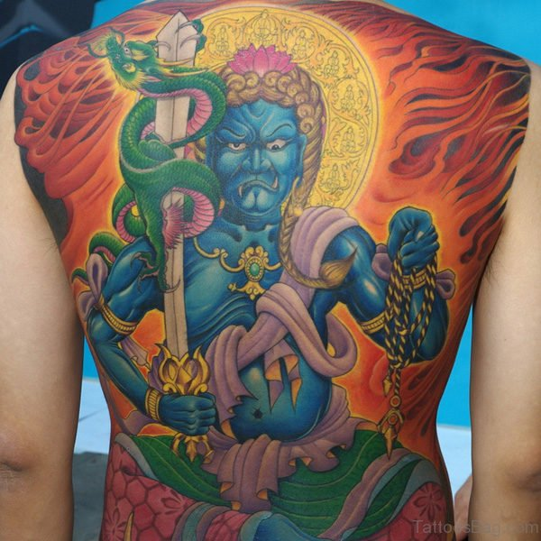 Colored Religious Tattoo