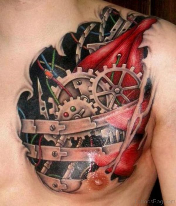 Awesome Biomechanical Tattoo
