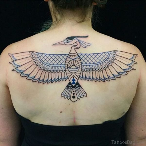 Awesome Bird Tattoo On Back