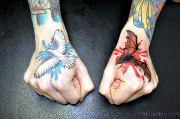 Awesome Bird Tattoo On Hand