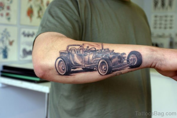 Awesome Car Tattoo On Arm