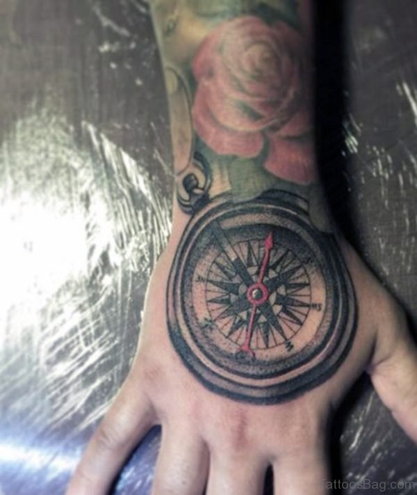 Awesome Compass Tattoo