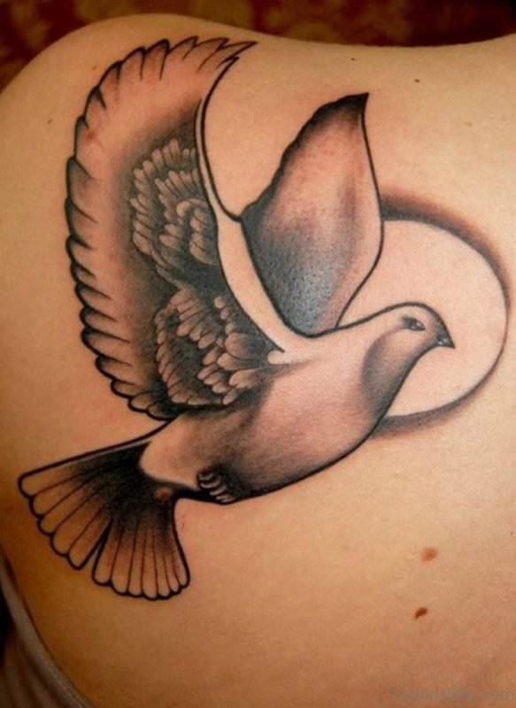 Awesome Dove Tattoo On hand