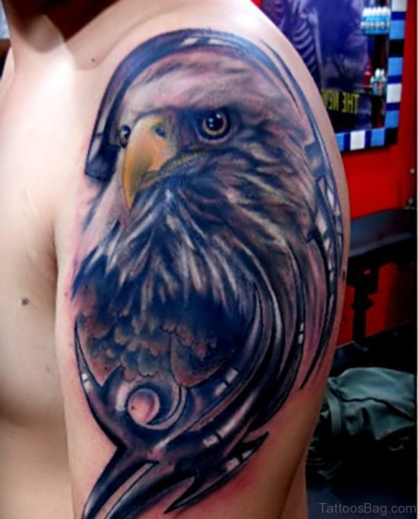 Awesome Eagle Tattoo On Shoulder
