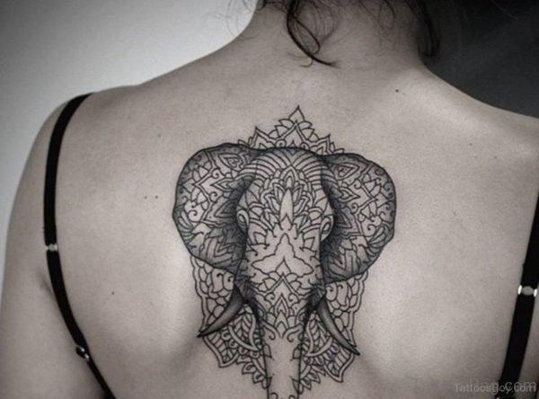 Awesome Elephant Tattoo On Back