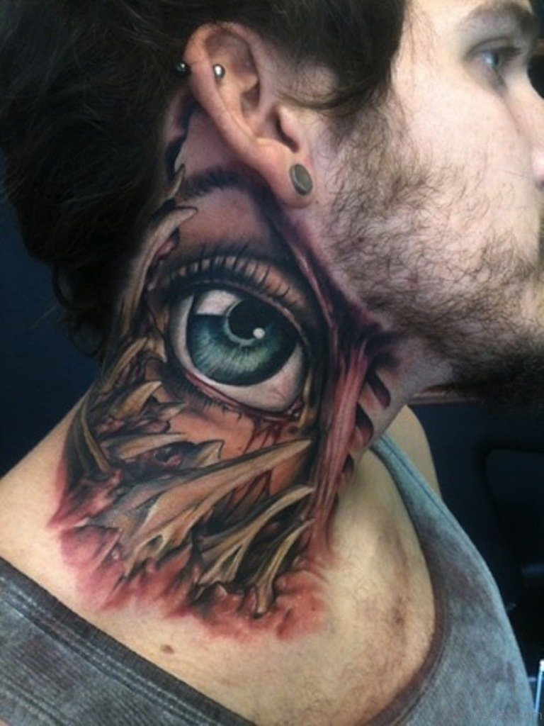 76 Excellent Eye Tattoos On Neck The fact is that the eye tattoo can be designed in many ways. tattoo designs tattoosbag com